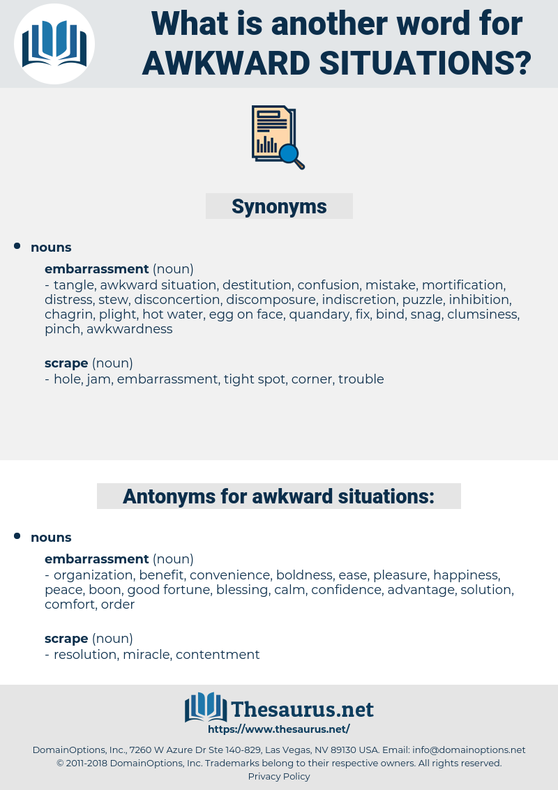 awkward situations, synonym awkward situations, another word for awkward situations, words like awkward situations, thesaurus awkward situations