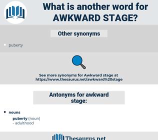 awkward stage, synonym awkward stage, another word for awkward stage, words like awkward stage, thesaurus awkward stage