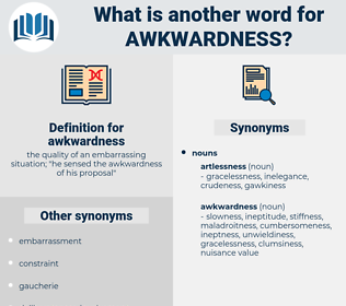 awkwardness, synonym awkwardness, another word for awkwardness, words like awkwardness, thesaurus awkwardness