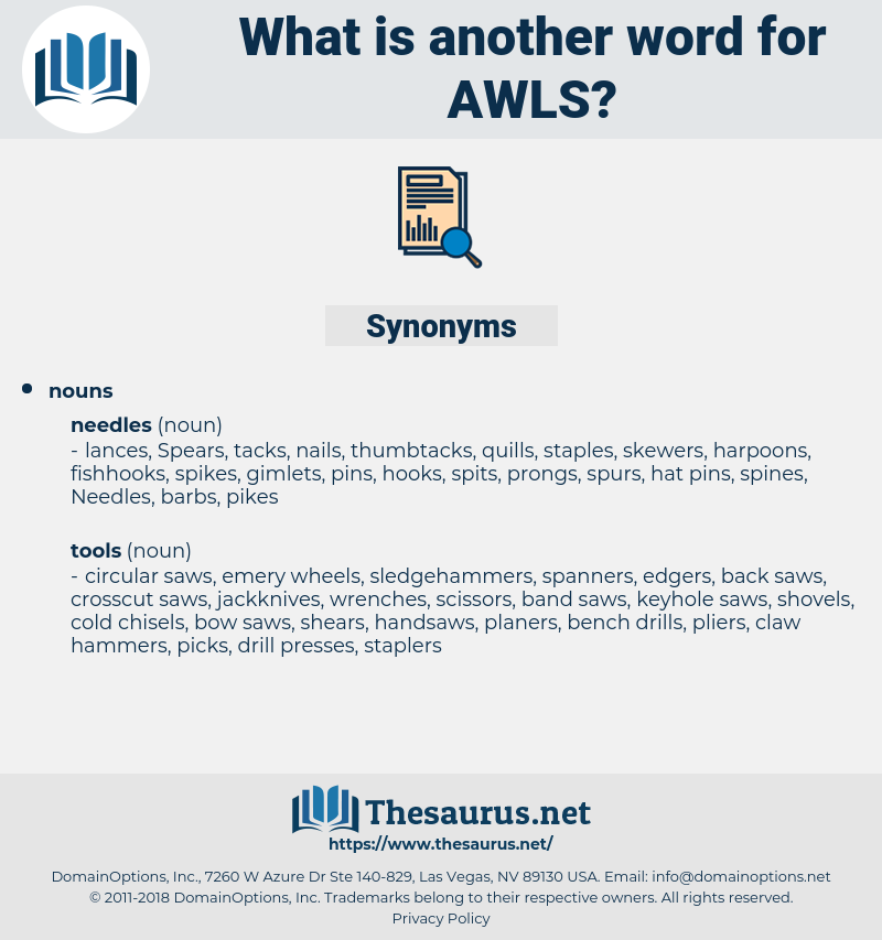 awls, synonym awls, another word for awls, words like awls, thesaurus awls
