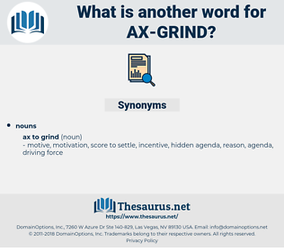 ax grind, synonym ax grind, another word for ax grind, words like ax grind, thesaurus ax grind