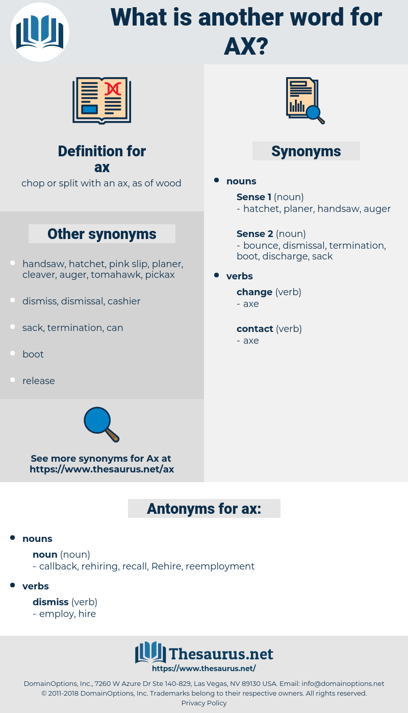 ax, synonym ax, another word for ax, words like ax, thesaurus ax