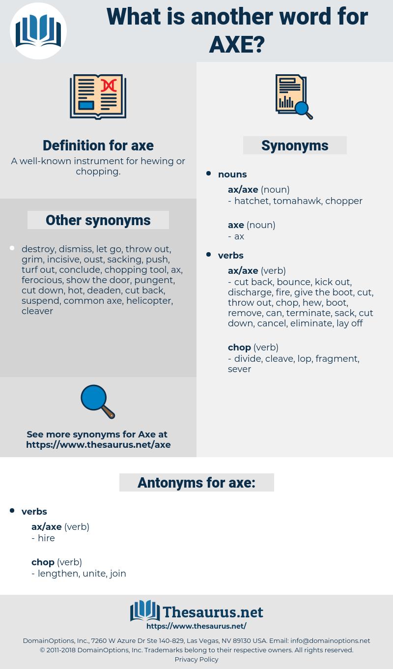 axe, synonym axe, another word for axe, words like axe, thesaurus axe