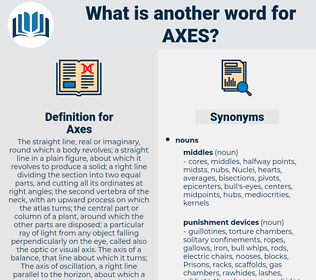Axes, synonym Axes, another word for Axes, words like Axes, thesaurus Axes