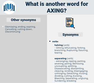 axing, synonym axing, another word for axing, words like axing, thesaurus axing
