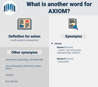 axiom, synonym axiom, another word for axiom, words like axiom, thesaurus axiom