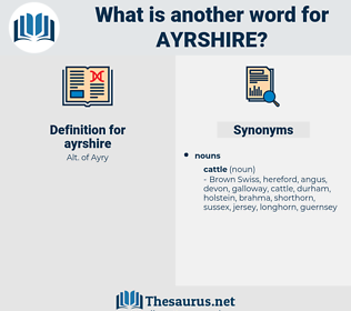ayrshire, synonym ayrshire, another word for ayrshire, words like ayrshire, thesaurus ayrshire