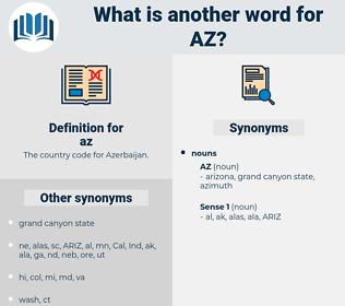 az, synonym az, another word for az, words like az, thesaurus az