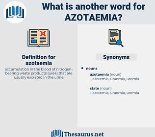 azotaemia, synonym azotaemia, another word for azotaemia, words like azotaemia, thesaurus azotaemia