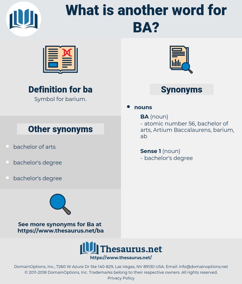 ba, synonym ba, another word for ba, words like ba, thesaurus ba