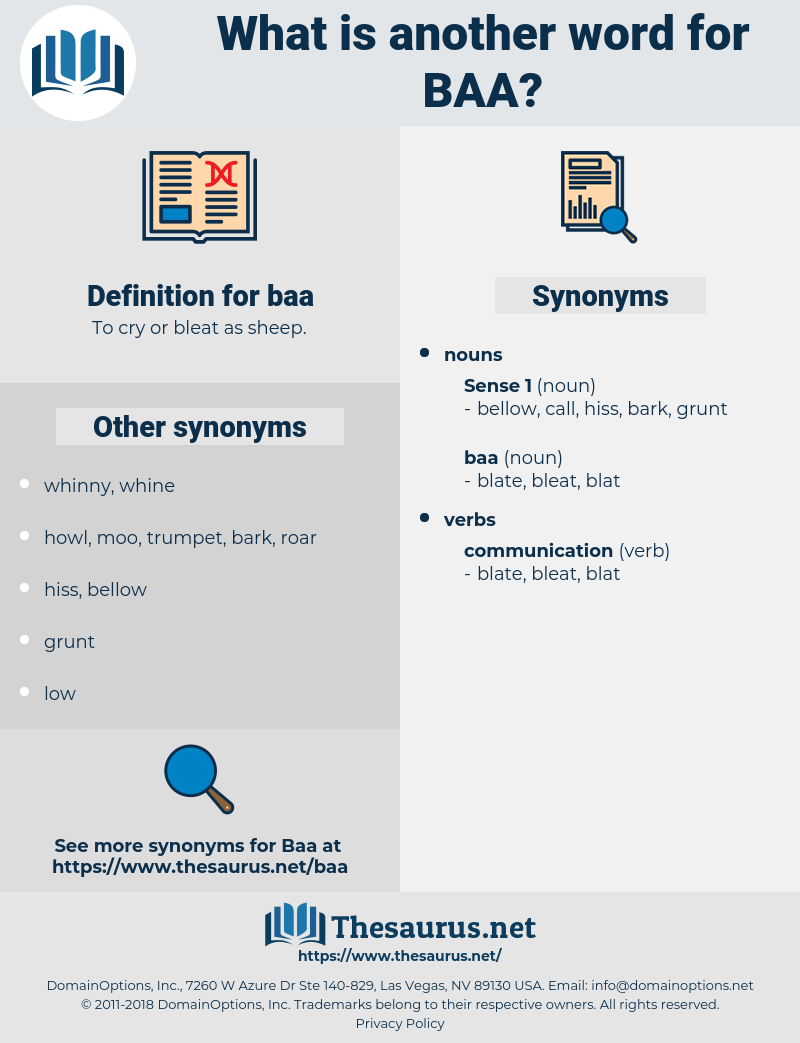 baa, synonym baa, another word for baa, words like baa, thesaurus baa