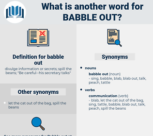 babble out, synonym babble out, another word for babble out, words like babble out, thesaurus babble out