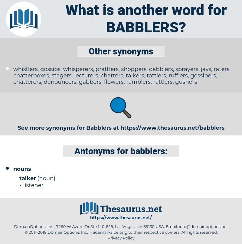babblers, synonym babblers, another word for babblers, words like babblers, thesaurus babblers