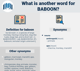 baboon, synonym baboon, another word for baboon, words like baboon, thesaurus baboon
