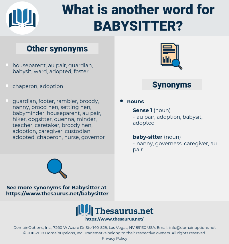 babysitter, synonym babysitter, another word for babysitter, words like babysitter, thesaurus babysitter