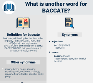 baccate, synonym baccate, another word for baccate, words like baccate, thesaurus baccate
