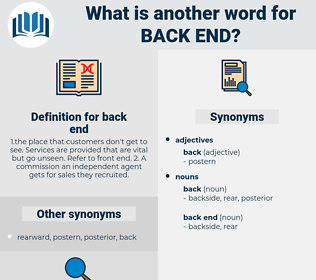 back end, synonym back end, another word for back end, words like back end, thesaurus back end