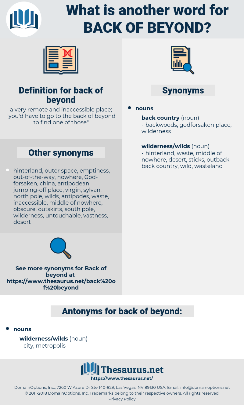 back of beyond, synonym back of beyond, another word for back of beyond, words like back of beyond, thesaurus back of beyond