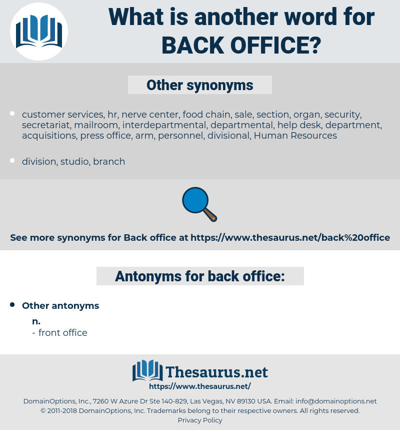 back office, synonym back office, another word for back office, words like back office, thesaurus back office