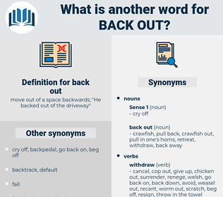back out, synonym back out, another word for back out, words like back out, thesaurus back out