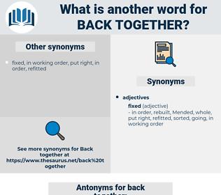 back together, synonym back together, another word for back together, words like back together, thesaurus back together