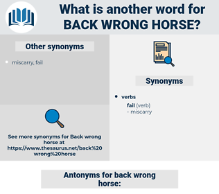 back wrong horse, synonym back wrong horse, another word for back wrong horse, words like back wrong horse, thesaurus back wrong horse