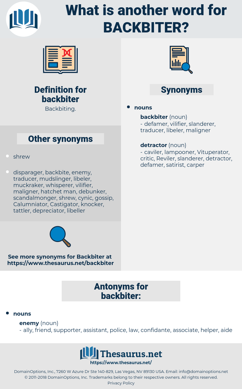backbiter, synonym backbiter, another word for backbiter, words like backbiter, thesaurus backbiter