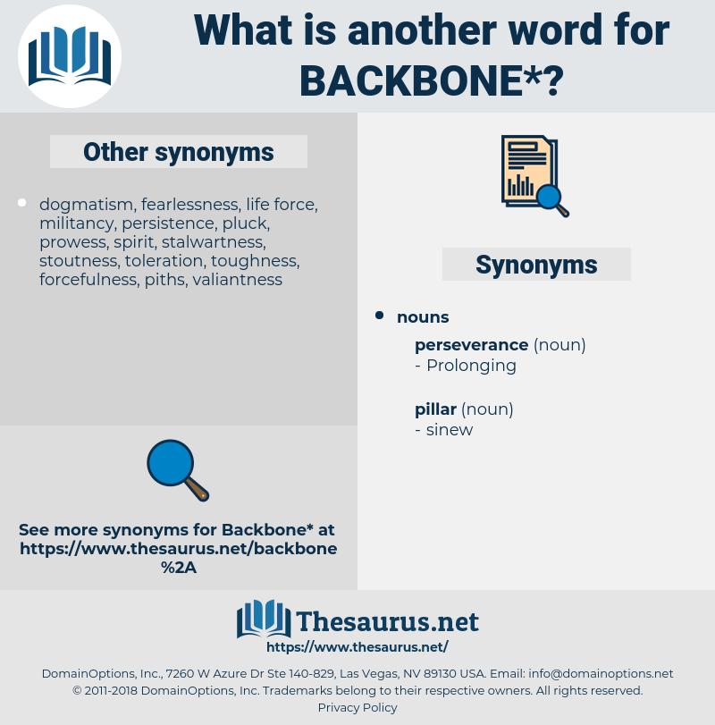 backbone, synonym backbone, another word for backbone, words like backbone, thesaurus backbone