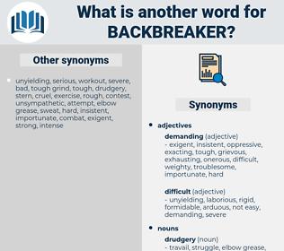 backbreaker, synonym backbreaker, another word for backbreaker, words like backbreaker, thesaurus backbreaker