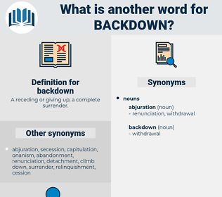 backdown, synonym backdown, another word for backdown, words like backdown, thesaurus backdown