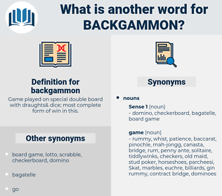 backgammon, synonym backgammon, another word for backgammon, words like backgammon, thesaurus backgammon
