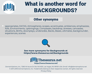 backgrounds, synonym backgrounds, another word for backgrounds, words like backgrounds, thesaurus backgrounds