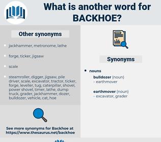 backhoe, synonym backhoe, another word for backhoe, words like backhoe, thesaurus backhoe