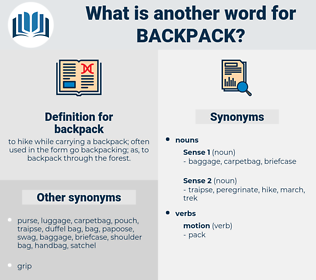 backpack, synonym backpack, another word for backpack, words like backpack, thesaurus backpack