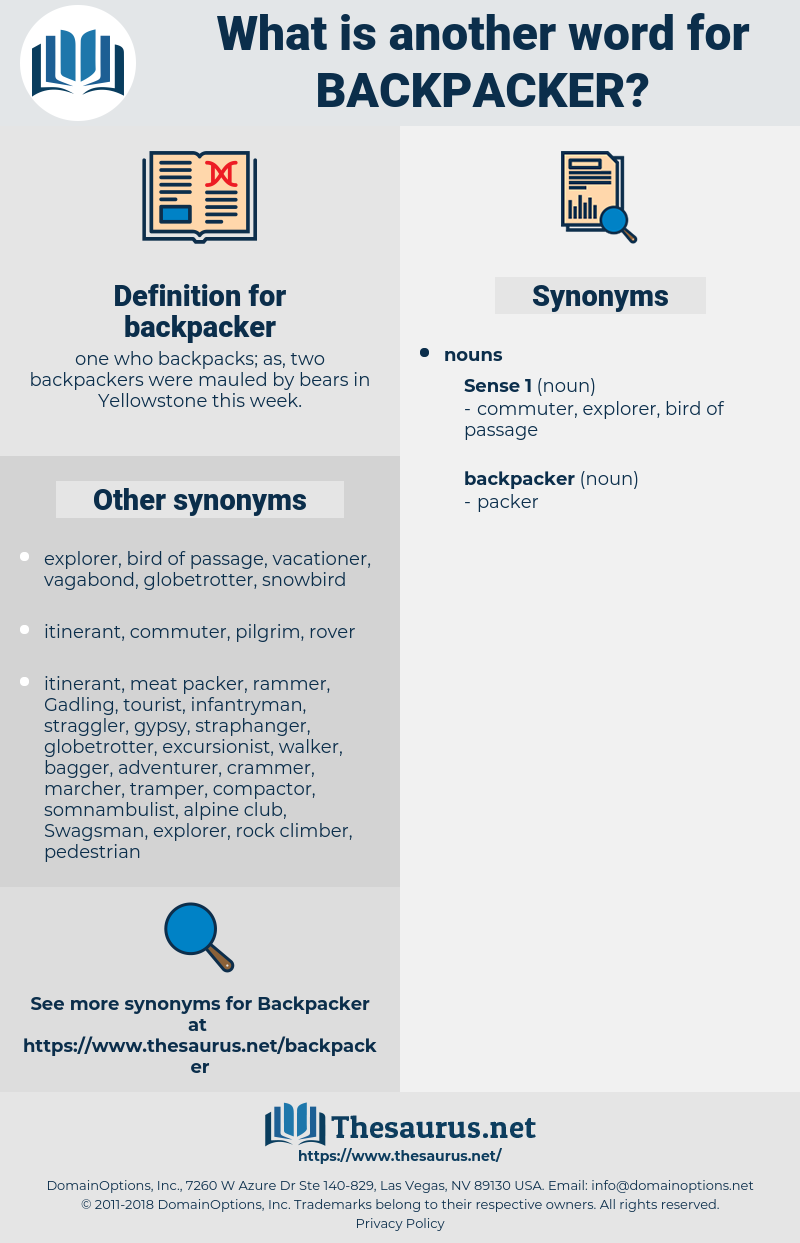 backpacker, synonym backpacker, another word for backpacker, words like backpacker, thesaurus backpacker