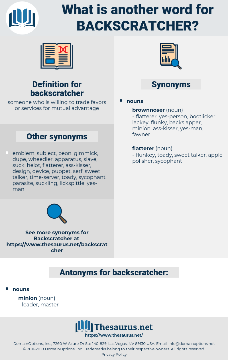 backscratcher, synonym backscratcher, another word for backscratcher, words like backscratcher, thesaurus backscratcher