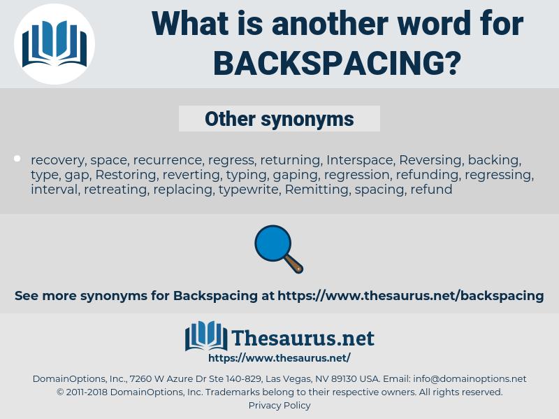 backspacing, synonym backspacing, another word for backspacing, words like backspacing, thesaurus backspacing