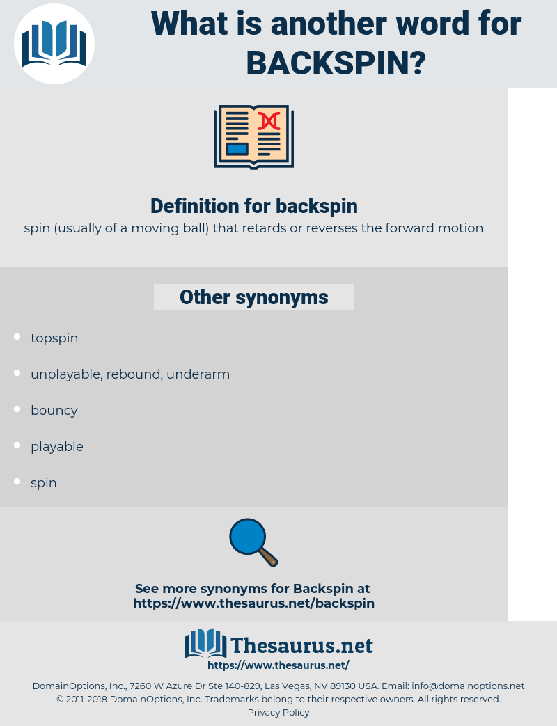 backspin, synonym backspin, another word for backspin, words like backspin, thesaurus backspin