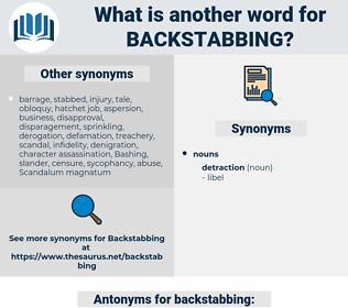 backstabbing, synonym backstabbing, another word for backstabbing, words like backstabbing, thesaurus backstabbing