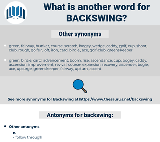 backswing, synonym backswing, another word for backswing, words like backswing, thesaurus backswing