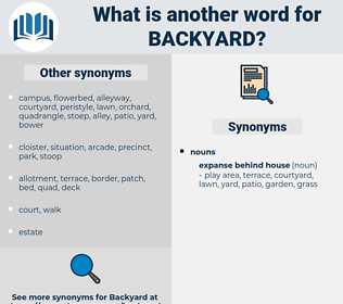 backyard, synonym backyard, another word for backyard, words like backyard, thesaurus backyard