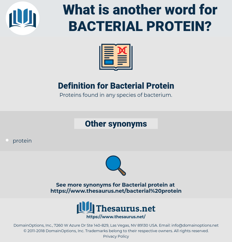 Bacterial Protein, synonym Bacterial Protein, another word for Bacterial Protein, words like Bacterial Protein, thesaurus Bacterial Protein