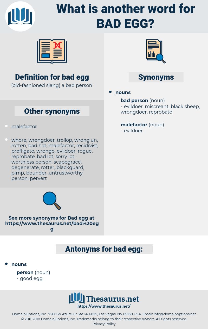 bad egg, synonym bad egg, another word for bad egg, words like bad egg, thesaurus bad egg