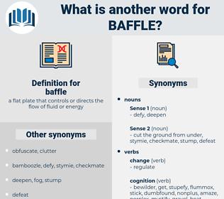 baffle, synonym baffle, another word for baffle, words like baffle, thesaurus baffle