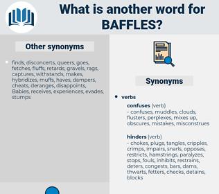 baffles, synonym baffles, another word for baffles, words like baffles, thesaurus baffles