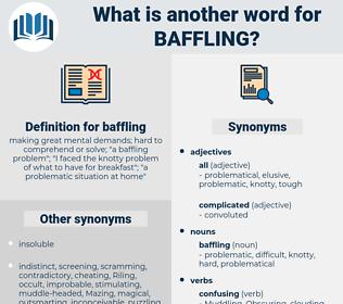baffling, synonym baffling, another word for baffling, words like baffling, thesaurus baffling