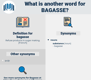 bagasse, synonym bagasse, another word for bagasse, words like bagasse, thesaurus bagasse