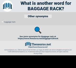 baggage rack, synonym baggage rack, another word for baggage rack, words like baggage rack, thesaurus baggage rack