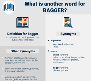 bagger, synonym bagger, another word for bagger, words like bagger, thesaurus bagger