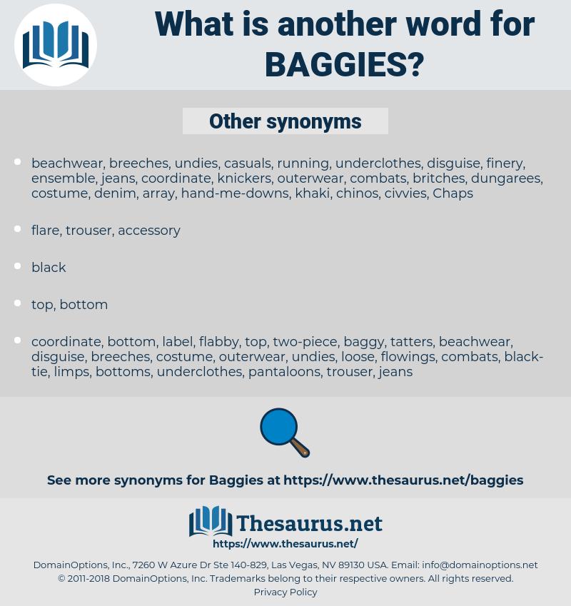 baggies, synonym baggies, another word for baggies, words like baggies, thesaurus baggies